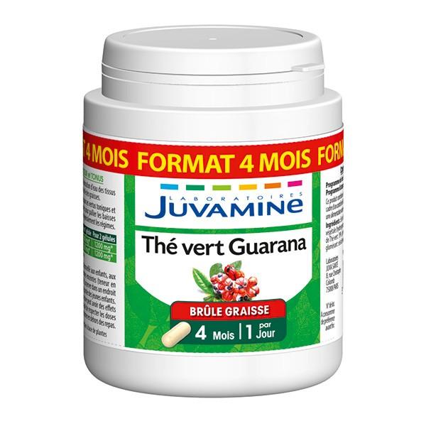 Juvamine Té Verde Guaraná 120 cápsulas
